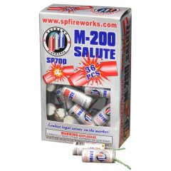 M-200 SALUTE FIRE CRACKERS 36 IN A BOX
