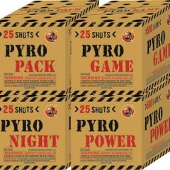 PYRO PACK 100'S SET OF 4 25'S DIFFERENT CAKES