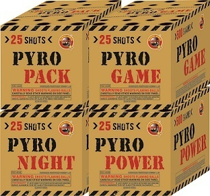 PYRO PACK 25'S 4 DIFFERENT CAKES