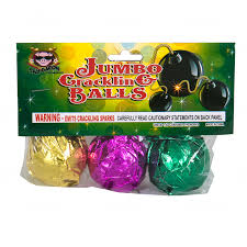 BALLS OF FURY JUMBO CRACKLING BALLS PACK OF 3