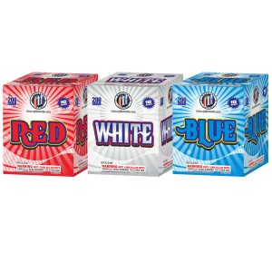 ASSORTED RED, WHITE & BLUE STROBE 16'S NEW 2020