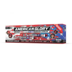 AMERICAN GLORY 228'S CANDLE RED, WHITE & BLUE NEW 2020
