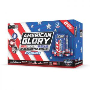 "AMERICAN GLORY 60 GM 5"" SHELLS 6 PACK RED, WHITE & BLUE NEW 2020"